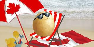 Patate au soleil serviette parasol plage